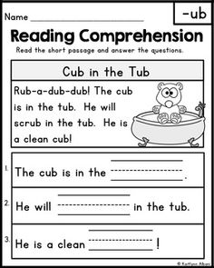 Reading Comprehension Passages - Word Families