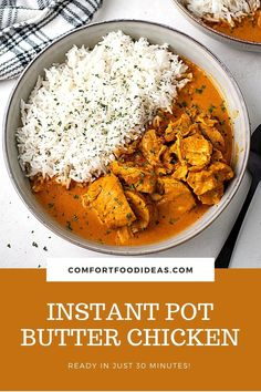 Instant Pot Butter Chicken: Skip the take-out and make this rich and creamy restaurant quality Butter Chicken! It's ready in 30 minutes and will soon become your next favorite meal! #instantpot #instantpotrecipes #butterchickenrecipe #instantpotbutterchicken #easyrecipes #dinnerrecipes #easydinnerrecipes #chickenrecipes Instant Pot Dinner Recipes, Easy Dinner Recipes, Easy Meals, Dinner Ideas, Lunch Recipes, Easy Recipes, Instant Pot Pressure Cooker, Pressure Cooker Recipes, Pressure Cooking