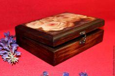 """Купить Шкатулка """"Розы"""" - коричневый, шкатулка, Декупаж, состаренный стиль, виноград, шкатулка для украшений"""