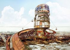 Designer Lekan Jeyifo imagines vertical shanty towns for Lagos