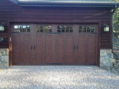 Clopay Canyon Ridge Collection Ultra Grain Series Faux Wood Garage Door.  Constructed From Insulated