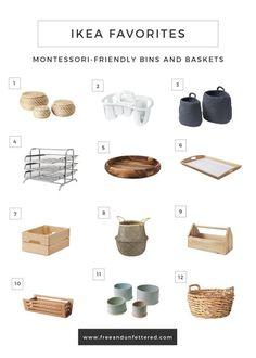 IKEA Favorites: Montessori-Friendly Bins, Baskets, and Trays