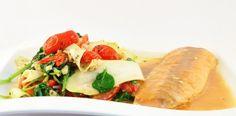 Pappardelle van courgette met pesto en zalmfilet. Ik heb het gemaakt en het is heerlijk! ****
