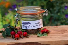 You can make your own whole food vitamin C pills with herbs. Free 4-herb vitamin C recipe shows you how.