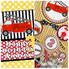 Printables for Griffin's fireman party