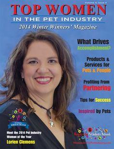 Top Women in the Pet Industry 2014 Winter Winners' Magazine Pet Sitting, Business Women, Kisses, Industrial, Magazine, Pets, Winter, Check, Top