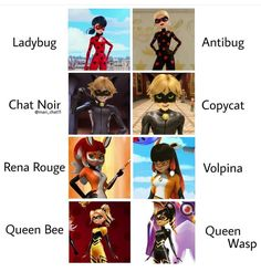 Miraculous Holders and their Akumatized counterparts Miraculous Ladybug Fanfiction, Miraculous Characters, Miraculous Ladybug Wallpaper, Miraculous Ladybug Fan Art, Miraculous Ladybug Villains, Meraculous Ladybug, Ladybug Comics, Ladybugs, Sapo Meme