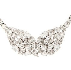 Martine Wester Dome Cluster Necklace - Bridal Jewellery - Crystal Bridal Accessories