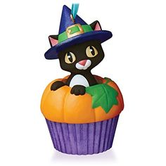 Punkin' Kitty Keepsake Cupcake Ornament 2015 Hallmark >>> Learn more by visiting the image link.