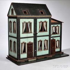 Six Room 'Mystery' Dollhouse, America, c. 1880.   Auction 2939M   Lot 19   Estimate: $3,000-5,000