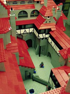 No way! Look at all those red roof slopes! I would love to build something of this scale.