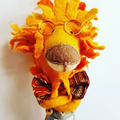 Wet felted lion in smart spectacles and donegal tweed dungarees Leo Lion, Donegal, Textile Artists, Dungarees, Bowser, Tweed, Felt, Teddy Bear, Toys
