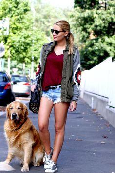 Shop this look on Kaleidoscope (jacket, shirt, shorts, sneakers)  http://kalei.do/WNiWh0U9kvBP2QEm
