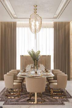 Modern Dining Room Tables, Elegant Dining Room, Luxury Dining Room, Dining Room Design, Dining Room Furniture, Dining Rooms, Room Chairs, Modern Furniture, Kitchen Design