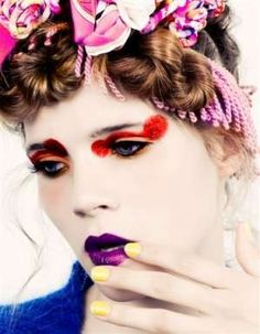 slander my crowd-sourcing and you will meet not only with the cream-mongers i tell you Beauty Makeup, Hair Makeup, Hair Beauty, Clown Makeup, Halloween Face Makeup, Makeup Inspiration, Style Inspiration, Makeup Gallery, Purple Lips