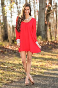 Life Of The Party Dress-Red Dress Red