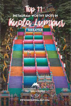 Rainbow Stairs Batu Caves Kuala Lumpur by Laos, Luang Prabang, Travel And Leisure, Travel Tips, Travel Destinations, Kuala Lumpur Travel, Kuala Lumpur Tour, Penang, Kuala Lampur
