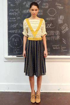 Lauren Moffatt Fall 2012. One of my NYC faves.