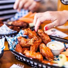 Wing Week has kicked off at @BavarianBierCafe With only 10 cents per wing this year they will attempt to break their interstate record of serving up 100000 wings in one hour today! Are you up for a challenge? The fastest contestant to consume 20 chicken wings clean to the bone at either Eagle Street Pier or Westfield Chermside will win $250. If thats not your thing you can dive into a kilo of wings and a 300ml beer for only $20 from 11am-3pm till Sunday 30th July. #bavarianbiercafe #wingweek…