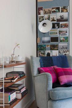 pink plaid pillows (via Design*Sponge)