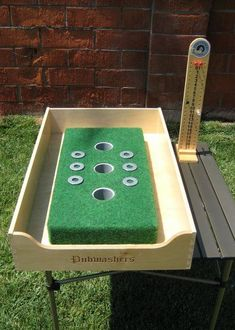 Pub Washers: A Different Way to Play Washers While Tailgating - Lawn Games Diy Yard Games, Backyard Games, Outdoor Games, Diy Carnival Games, Carnival Ideas, Tailgate Games, Tailgating Ideas, Wood Games, Bar Games