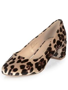 River Island Leopard Print Block Heeled Shoe  We love a little fierce fashion every once in a while! River Island's leopard print block heeled shoes are just the ticket! The plush upper lends a little luxe appeal to the scene-stealing print, while the block heel adds a hint of retro chic into the mix too! Pair with skinny trews and a tucked in tee to master the art of day to dark styling. Lining: Other MaterialsMaterial: Other MaterialsSole: Other MaterialsUpper: Other Materials