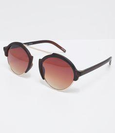 88c7bc50b4599 Óculos de sol Modelo redondo Hastes em acetato Lentes degradê Proteção  contra raios UVA   UVB