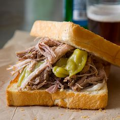 This easy Slow Cooker Pickled Pulled Pork recipe is perfect for the slow cooker and great for daytime parties and events like the super bowl!
