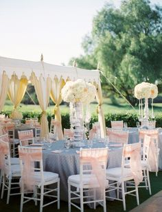 blush pink, dove grey with accents of gold wedding