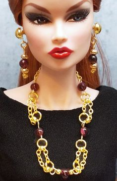 FS: Genuine garnet with gold-tone chains and accent beads. | by daPistol