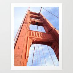 Golden Gate Art Print by Chris Flores - $33.28