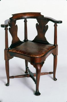 Furniture - Chair (Corner chair) - Search the Collection - Winterthur Museum Corner Furniture, Online Furniture, Table Furniture, Cool Furniture, Furniture Design, Furniture Ideas, Victorian Furniture, Antique Furniture, Reproduction Furniture