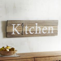 Kitchen Planked Wall Decor Natural
