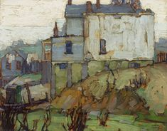 Shacks by Lawren Stewart Harris-Group of Seven Landscape Artwork, Abstract Landscape, Abstract Art, Canadian Painters, Canadian Artists, Landscape Arquitecture, Art Auction, Oeuvre D'art, Artist At Work