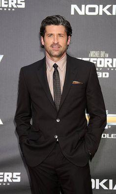 Patrick Dempsey black suit