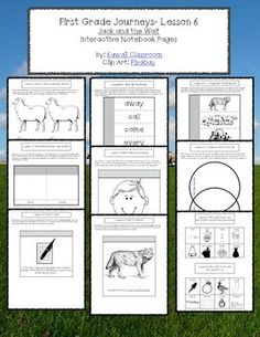 $3: 1st Grade Journeys (2014) Lesson 5 Interactive Notebook Pages. These interactive notebook pages are a great supplement to what is already included in the Journey's curriculum. I find that my students get more excited doing these types of activities rather than just workbook pages.