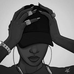Uploaded by MÁRCIA LIMA. Find images and videos about girl, art and illustration on We Heart It - the app to get lost in what you love. Black Love Art, Black Girl Art, Art Girl, Arte Dope, Dope Art, Black Art Painting, Black Artwork, Trill Art, Black Girl Cartoon