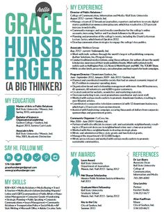pr resume cravingcreativity learn more wwwgracehunsbergercom