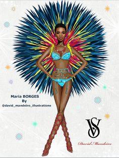 Maria Borges from 2015 Victoria's Secret Fashion Show by David Mandeiro.