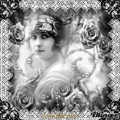 vintage woman-bw