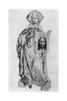 Giclee Print: St Veronica, Mid Century by Robert Campin : Verona, St Veronica, Framed Artwork, Wall Art, 15th Century, Poster Wall, Find Art, Giclee Print, Saints