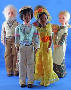 The most colorful dolls ever! 1970's Mattel Sunshine Family & Happy Family (Special edition Jazz Performer Happy Couple.)