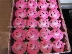 Pig Cupcakes - Hannah's dream  Pinned by www.minivanmaverick.com Homeschooling, Holistic Health, Natural and Instinctual Living, Purposeful Parenting, Family, Faith, Politics and Freedom.