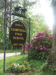 john c. campbell folk school, brasstown, n.c.  This is one terrific place..interesting to visit and tour and even better to sign up for a class...truly a piece of American Folk Heritage worth supporting!!!