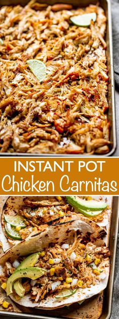 Chicken Taco Recipes, Mexican Food Recipes, Mexican Chicken Tacos, Chicken For Nachos, Easy Chicken Tacos, Chicken Tender Recipes, Recipe Chicken, Carnitas Recipe, Chicken Recipes