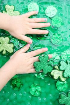 St. Patrick's Day Sensory Play for Preschoolers