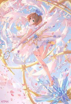 Kinomoto Sakura~Cardcaptor Sakura by ATdan Cardcaptor Sakura Clear Card, Sakura Manga, Sakura Card Captors, Sakura Kinomoto, Syaoran, Sasuke Sakura, Anime Chibi, Manga Anime, Manga Kawaii