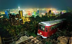 Picture titled Victoria Peak Tram from our Hong Kong, China photo gallery. Check out this and 14 other pictures of Hong Kong. Madame Tussauds, Air France, Hong Kong Itinerary, Tourist Info, Sites Touristiques, Destinations, Hongkong, Victoria Harbour, World Cities