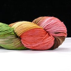Hand Kettle Dyed Silver Sparkle Sock Yarn- Garden Party