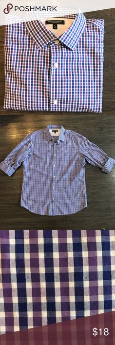 Banana Republic | Button Down Like new condition! Purple toned cross pattern. Can be dressed up or down! Banana Republic Shirts Casual Button Down Shirts